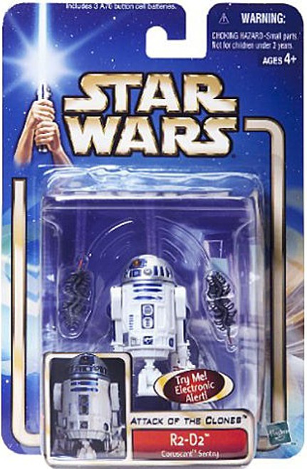 Star Wars Attack of the Clones Basic 2002 Collection 2 R2-D2 Action Figure #14 [Coruscant Sentry, Damaged Package]