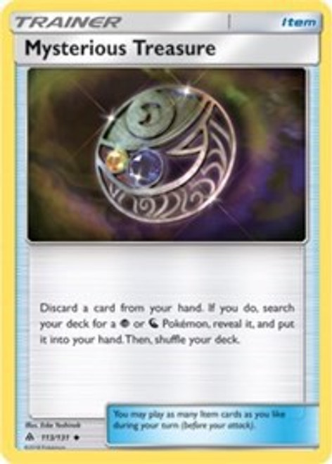 Pokemon Trading Card Game Forbidden Light Uncommon Mysterious Treasure #113