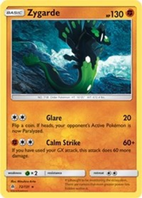 Pokemon Trading Card Game Forbidden Light Rare Zygarde #72