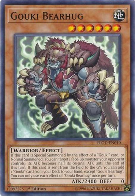YuGiOh Flames of Destruction Common Gouki Bearhug FLOD-EN010