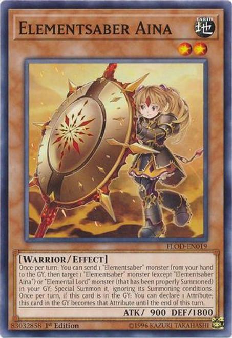 YuGiOh Flames of Destruction Common Elementsaber Aina FLOD-EN019
