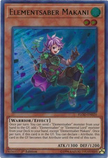 YuGiOh Flames of Destruction Ultra Rare Elementsaber Makani FLOD-EN020