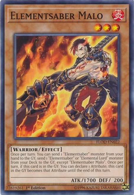 YuGiOh Flames of Destruction Common Elementsaber Malo FLOD-EN022
