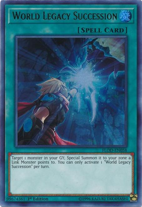 YuGiOh Flames of Destruction Ultra Rare World Legacy Succession FLOD-EN058