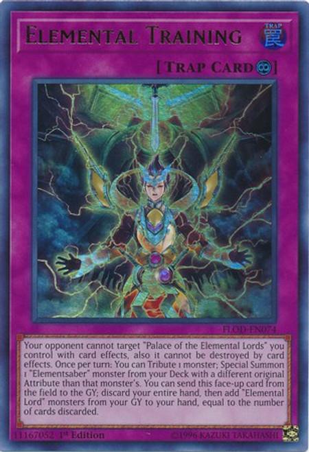 YuGiOh Flames of Destruction Ultra Rare Elemental Training FLOD-EN074