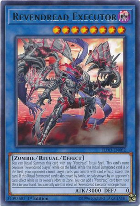 YuGiOh Flames of Destruction Rare Revendread Executor FLOD-EN082