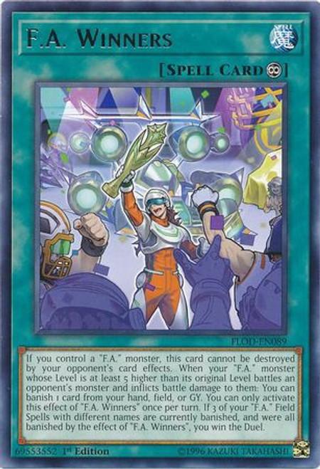 YuGiOh Flames of Destruction Rare F.A. Winners FLOD-EN089