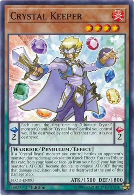 YuGiOh Flames of Destruction Common Crystal Keeper FLOD-EN093