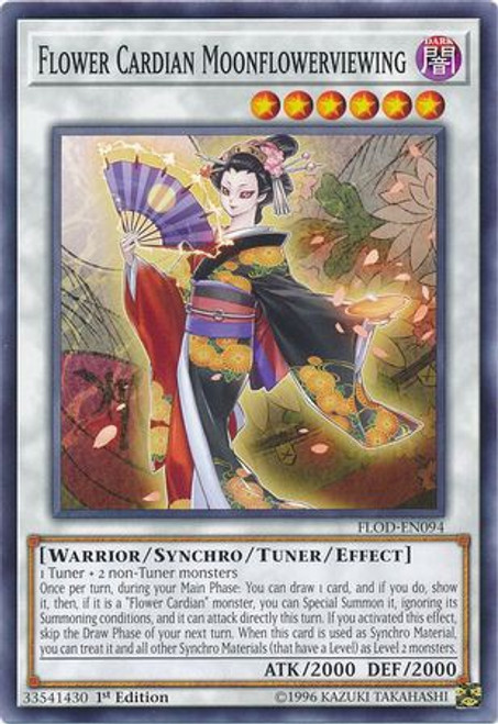 YuGiOh Flames of Destruction Common Flower Cardian Moonflowerviewing FLOD-EN094