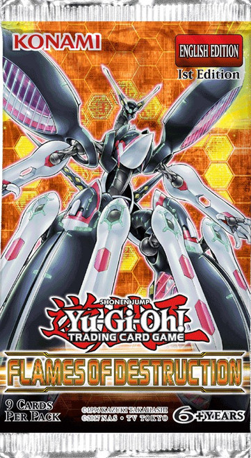YuGiOh Trading Card Game Flames of Destruction Booster Pack