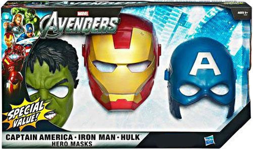 Marvel Avengers Hero Mask 3-Pack Exclusive Roleplay Toy [Damaged Package]