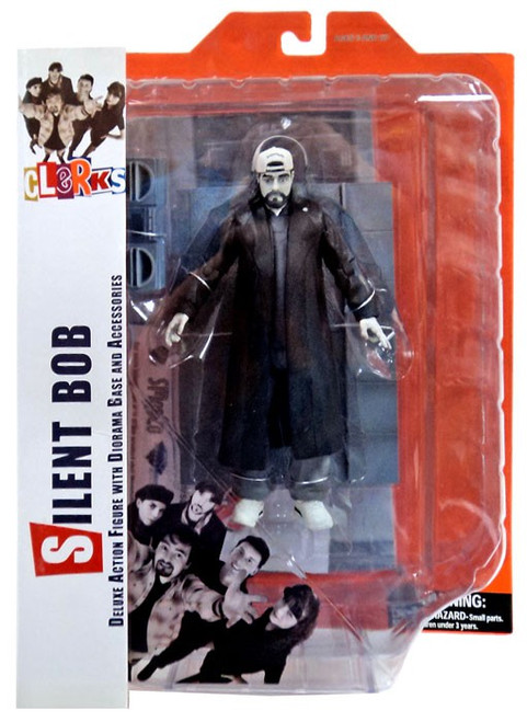 Clerks Silent Bob Action Figure [Black & White, Damaged Package]