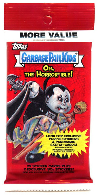 Garbage Pail Kids Topps 2018 Oh, The Horror-ible Trading Card Sticker VALUE Pack [24 Cards!]