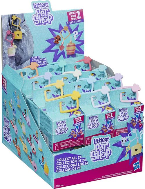 Littlest Pet Shop Clip It Series 2 Mystery Box [24 Packs, 2-B25 thru 2-B48]