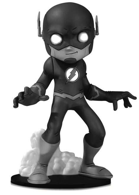 DC Artist Alley The Flash 6.6-Inch PVC Collector Statue [Chris Uminga, Black & White Variant]