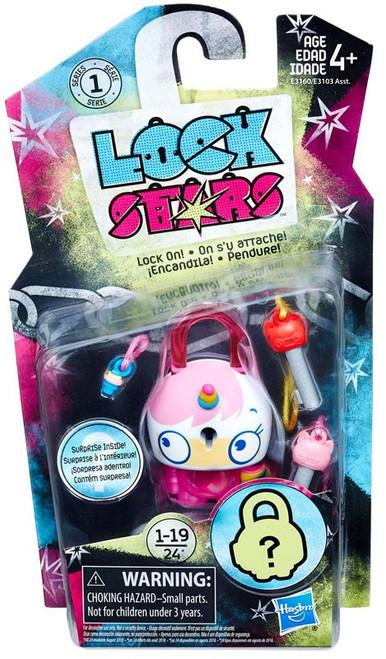 Lock Stars Series 1 Pink Cat Unicorn Figure