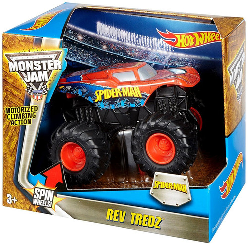 Hot Wheels Monster Jam 25 Rev Tredz Spider-Man Vehicle