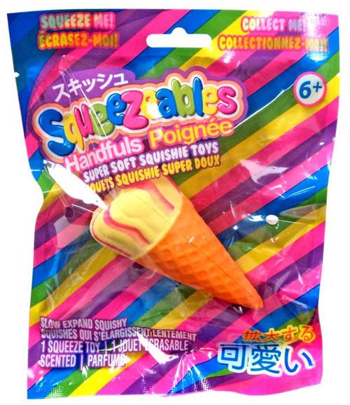 Squeezeables Handfuls Vanilla Ice Cream Cone Squeeze Toy