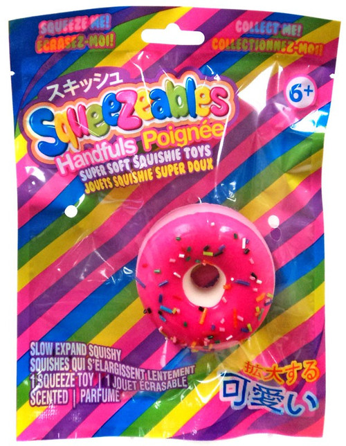 Squeezeables Handfuls Pink Donut with Sprinkles Squeeze Toy