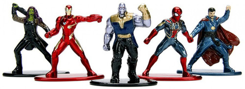 Marvel Avengers Infinity War Nano Metalfigs Iron Man, Iron Spider, Gamora, Thanos & Doctor Strange 1.5-Inch Diecast Figure 5-Pack