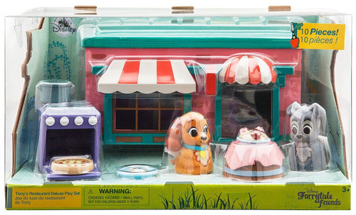 Disney Lady & The Tramp Furrytale Friends Tony's Resturant Deluxe Exclusive Playset