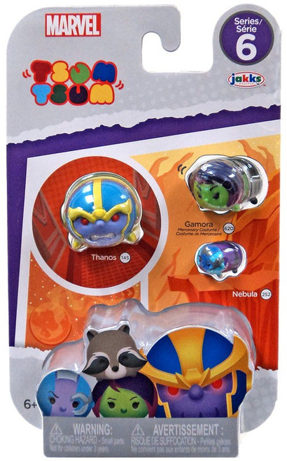 Marvel Tsum Tsum Series 6 Thanos, Nebula & Gamora 1-Inch Minifigure 3-Pack #145, 620 & 252