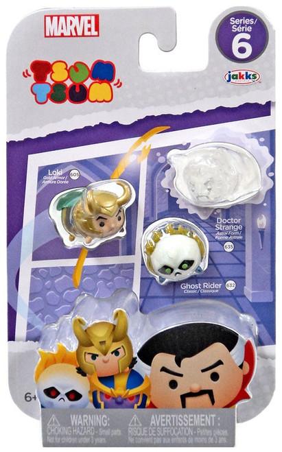 Marvel Tsum Tsum Series 6 Loki, Ghost Rider & Doctor Strange 1-Inch Minifigure 3-Pack #605, 632 & 635