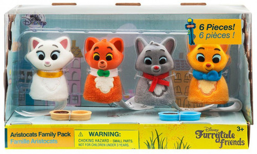 Disney Lady & The Tramp Furrytale Friends Aristocats Family Pack Exclusive