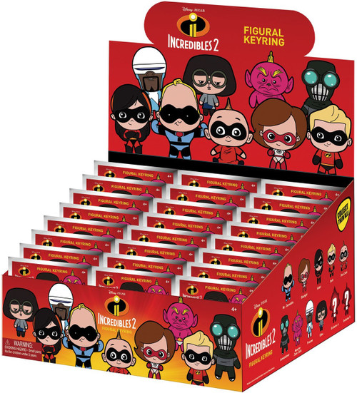 Disney / Pixar 3D Figural Keyring Disney Series 16 Incredibles 2 Mystery Box [24 Packs]