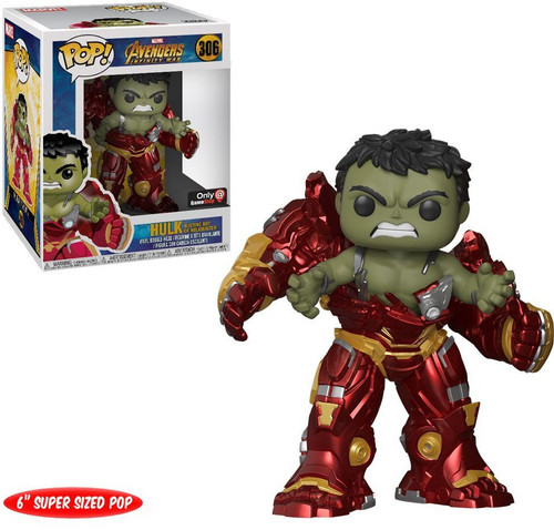 Funko Avengers Infinity War POP! Marvel Hulk (Busting Out of Hulkbuster) Exclusive 6-Inch Vinyl Figure #306 [Super-Sized]