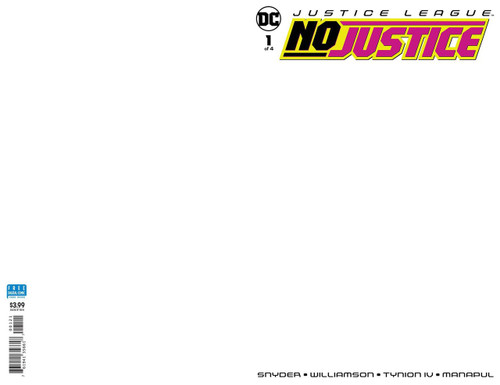 DC Justice League No Justice #1 Comic Book [Blank Variant]