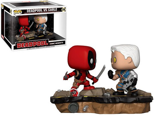 Funko POP! Marvel Deadpool Vs. Cable Vinyl Figure 2-Pack #318 [Comic Moments]