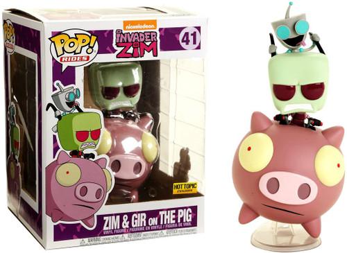 Funko Invader Zim POP! Rides Zim & Gir on Pig Exclusive Vinyl Figure