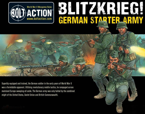 Bolt Action WWII Wargame Axis Blitzkrieg! German Starter Army Miniatures