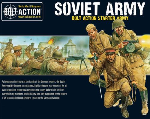Bolt Action WWII Wargame Allies Soviet Army Starter Army Miniatures