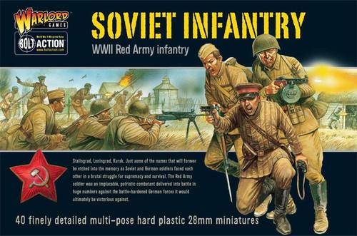Bolt Action WWII Wargame Allies Soviet Infantry Miniatures
