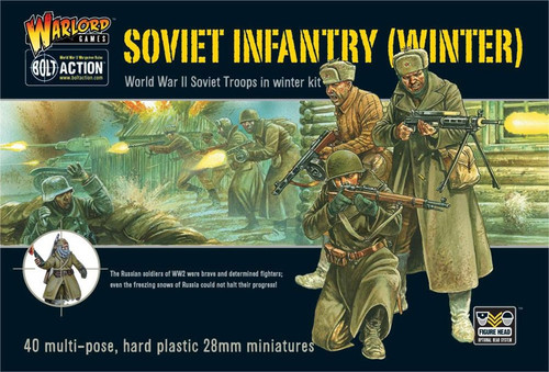 Bolt Action WWII Wargame Allies Soviet Infantry (Winter) Miniatures