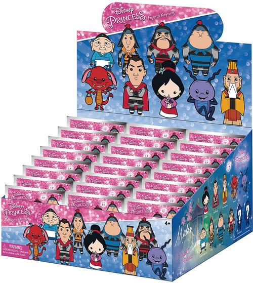 Disney Princess 3D Figural Keyring Disney Series 17 Mulan Mystery Box [24 Packs]