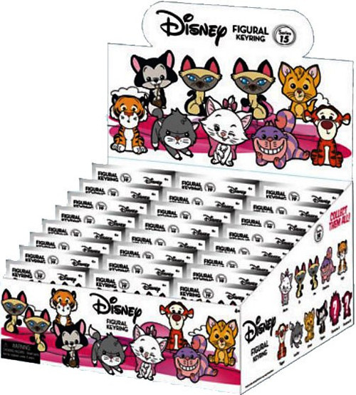 3D Figural Keyring Disney Series 19 Cats Mystery Box [24 Packs]