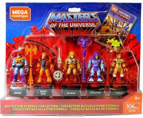 Mega Construx Masters of the Universe He-Man, Skeletor, Teela, Faker & Beast Man Mini Figure 5-Pack Set