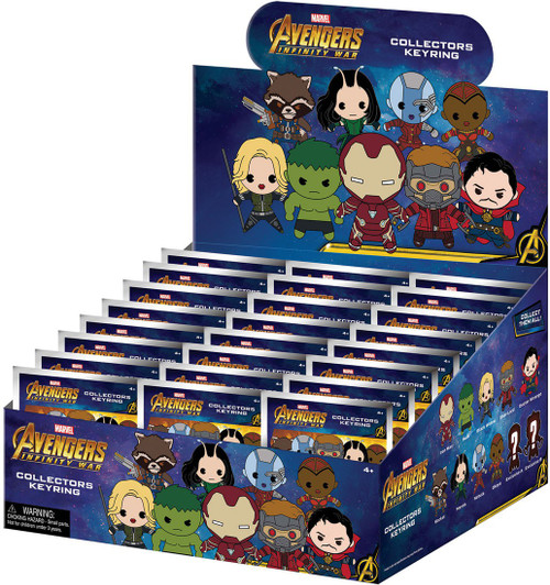 Marvel 3D Figural Keyring Avengers Infinity War Series 1 Mystery Box [24 Packs]