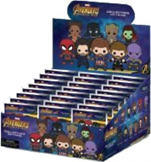 Marvel 3D Figural Keyring Avengers Infinity War Series 2 Mystery Box [24 Packs]