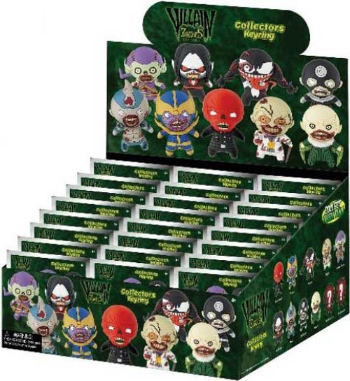 Marvel 3D Figural Keyring Villains Zombies Mystery Box [24 packs]