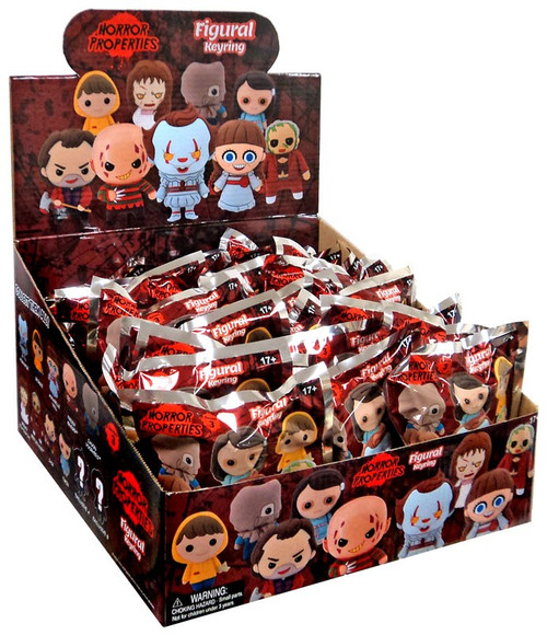 3D Figural Keyring Horror Series 3 Mystery Box [24 Packs]