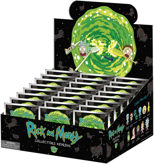 3D Figural Keychain Series 2 Rick & Morty Mystery Box [24 Packs]