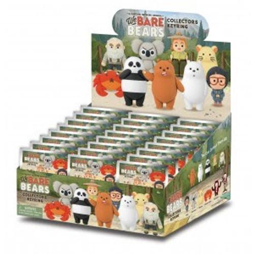 3D Figural Keychain Series 1 We Bare Bears Mystery Box [24 Packs]