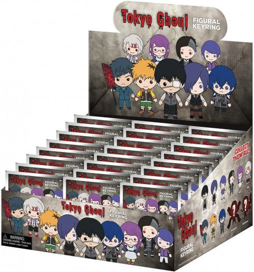 3D Figural Keyring Series 1 Tokyo Ghoul Mystery Box [24 Packs]