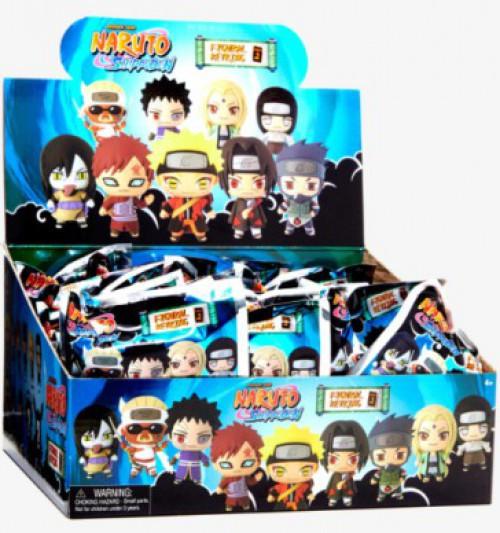 3D Figural Keyring Naruto Shippuden Series 2 Mystery Box [24 Packs]