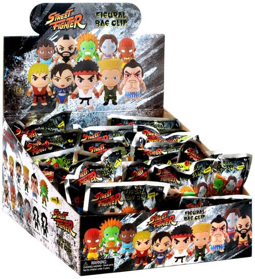3D Figural Keyring Street Fighter Mystery Box [24 packs]