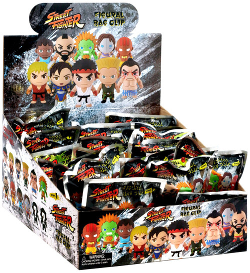 3D Figural Keyring Street Fighter Mystery Box [24 packs]